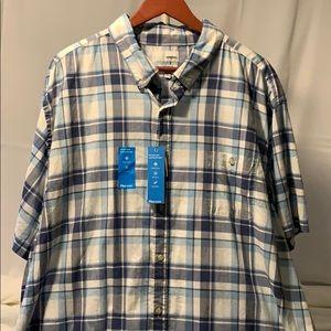 🆕 Sonoma Flexwear Blue Plaid Shirt Sz. 3XLT